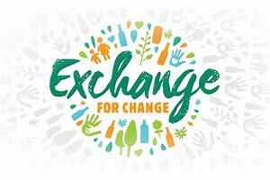 Exchange for Change Logo for the Rowdy Inc Portfolio Page