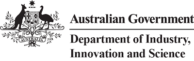 Australia Government Department of Industry, Innovation and Science Logo for the Rowdy Inc Portfolio Page
